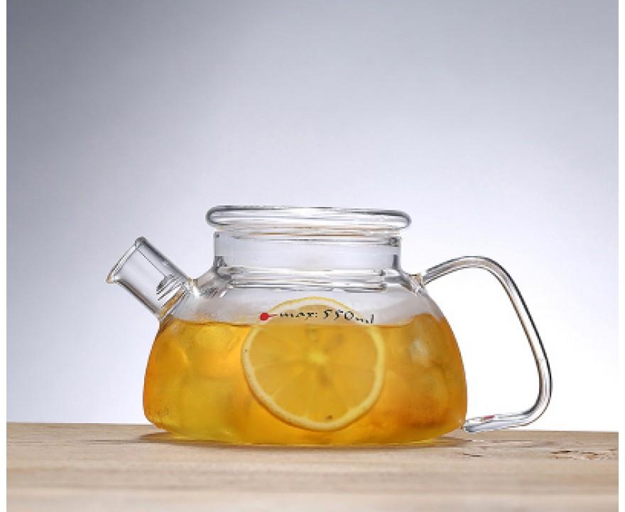 Заварочный стеклянный чайник 700 мл со стеклянной крышкой, фото 1