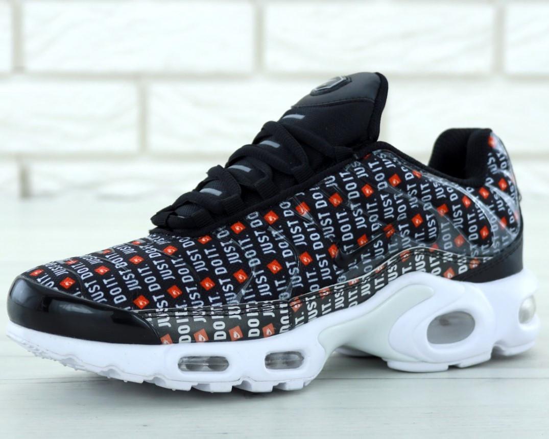 "Кроссовки мужские Nike Air Max Tn Plus Black ""Just Do It"" ,найк аир макс тн"
