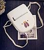Рюкзак женский кожзам яркий с ушками Белый, фото 2