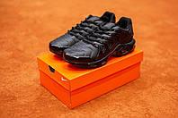 Мужские кроссовки в стиле Nike Air Max Tn Plus (black), черные найк аир макс тн плюс (Реплика ААА), фото 1