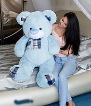 Блакитний плюшевий ведмедик 130 см