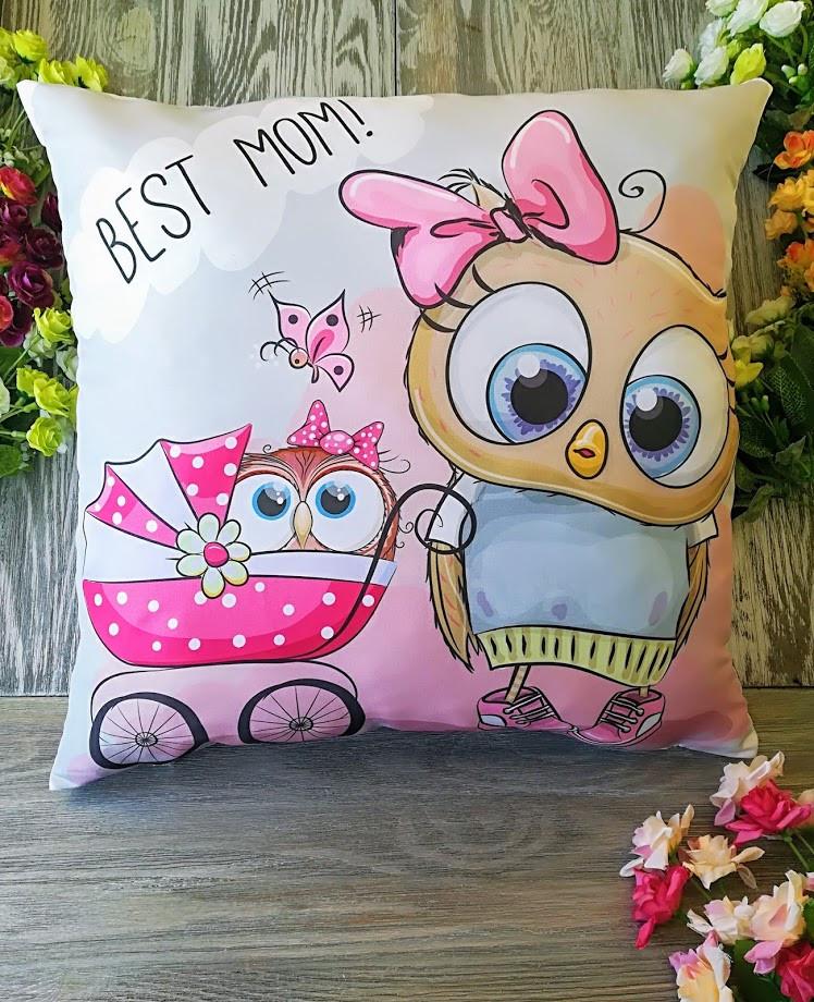 Подушка совушка Best mom! 45 * 45 см