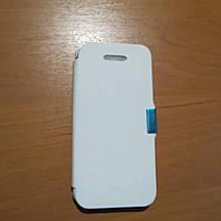 Пластиковый чехол книжка белый  iPhone 5/5s