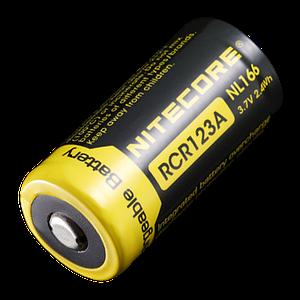 Аккумулятор RCR123A (650mAh) Nitecore NL166
