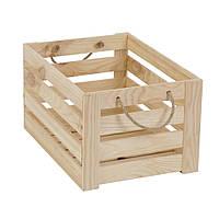 Ящик реечный из дерева с ручками (21х26х34 см) WoodMood