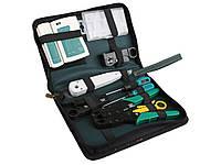 Профессиональный набор инструментов 11 в 1 для наладки и ремонта компьютерных и телекоммуникационных сетей