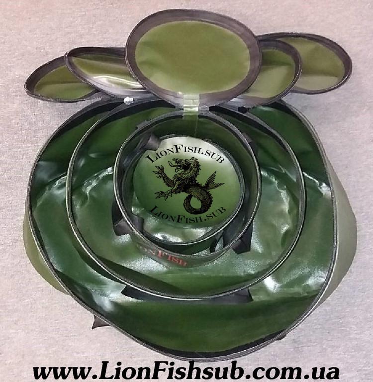 Складное Рыболовное Ведро LionFish.sub в ассортименте - для рыбалки, трофейной рыбы, прикормки, охоты