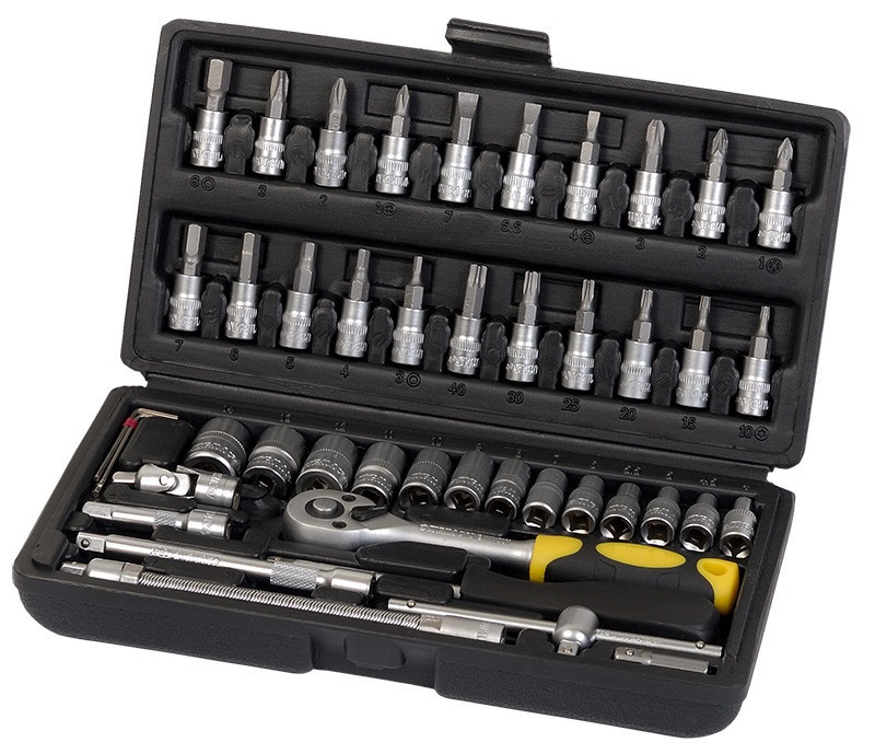 Профессиональный набор инструментов Сталь 46 единиц (70014)