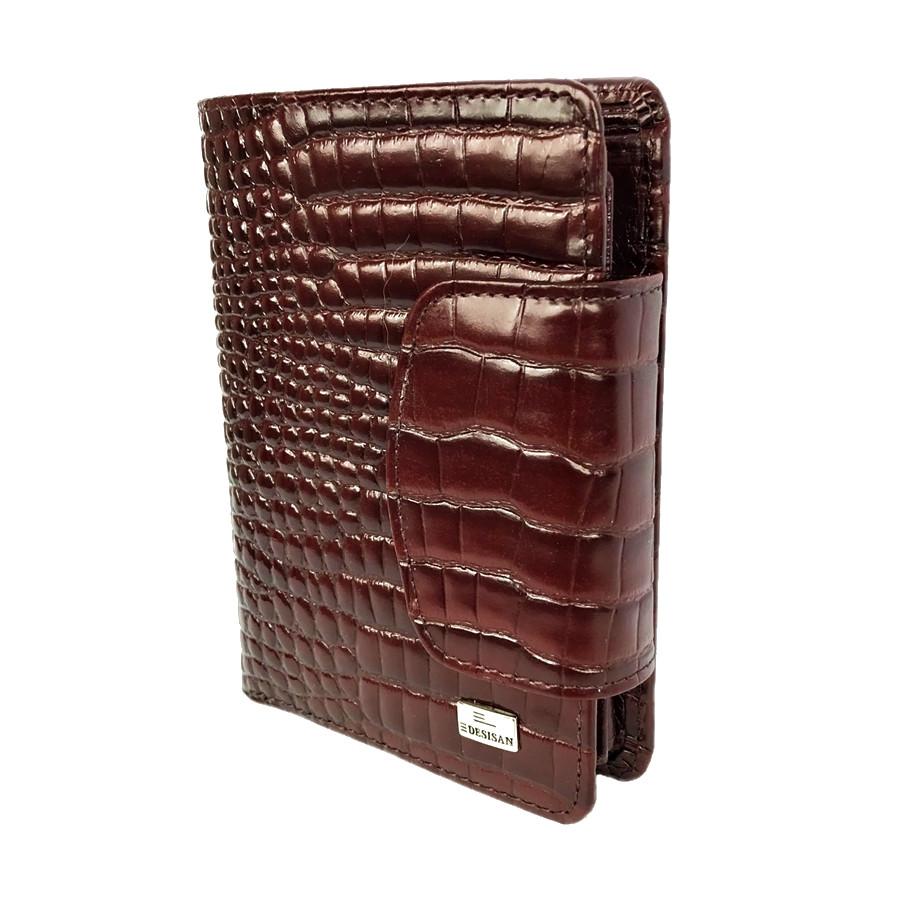 f91f54c8ddb5 Женское портмоне кожаныйDesisan 086-626 с тиснением коричневый ...