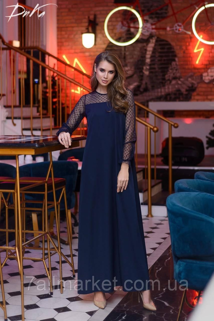 9d11bf3a4f0 Платье женское вечернее с сеткой размеры 42-56 (3цв)