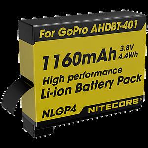 Аккумулятор AHDBT-401 (1160mAh) Nitecore NLGP4 для GoPro