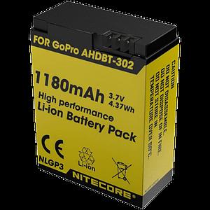 Аккумулятор AHDBT-302 (1180mAh) Nitecore NLGP3 для GoPro