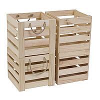 Комплект 07: ящики из дерева BXR 212222 - 4 шт