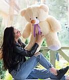 Плюшевий ведмедик кремовий 100 см, фото 3