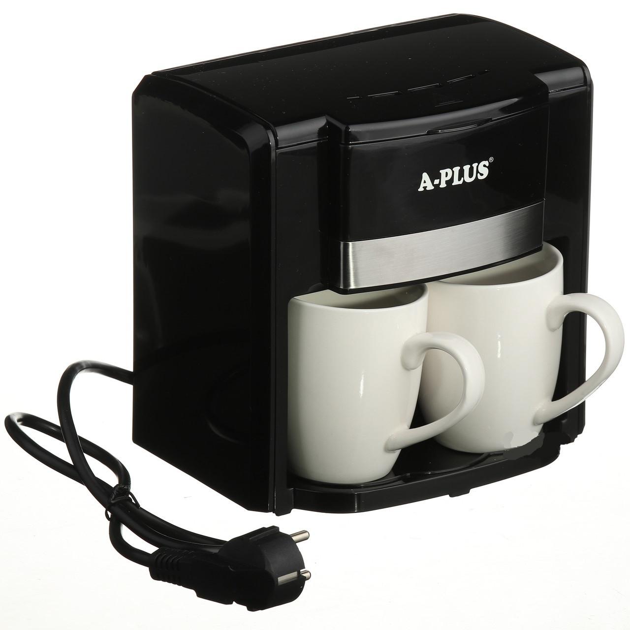 Кофеварка A-PLUS 500 Ватт на 2 чашки