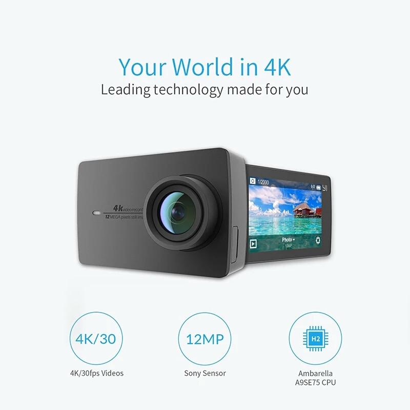 Экшн-камера Xiaomi Yi 4k Black Международная версия