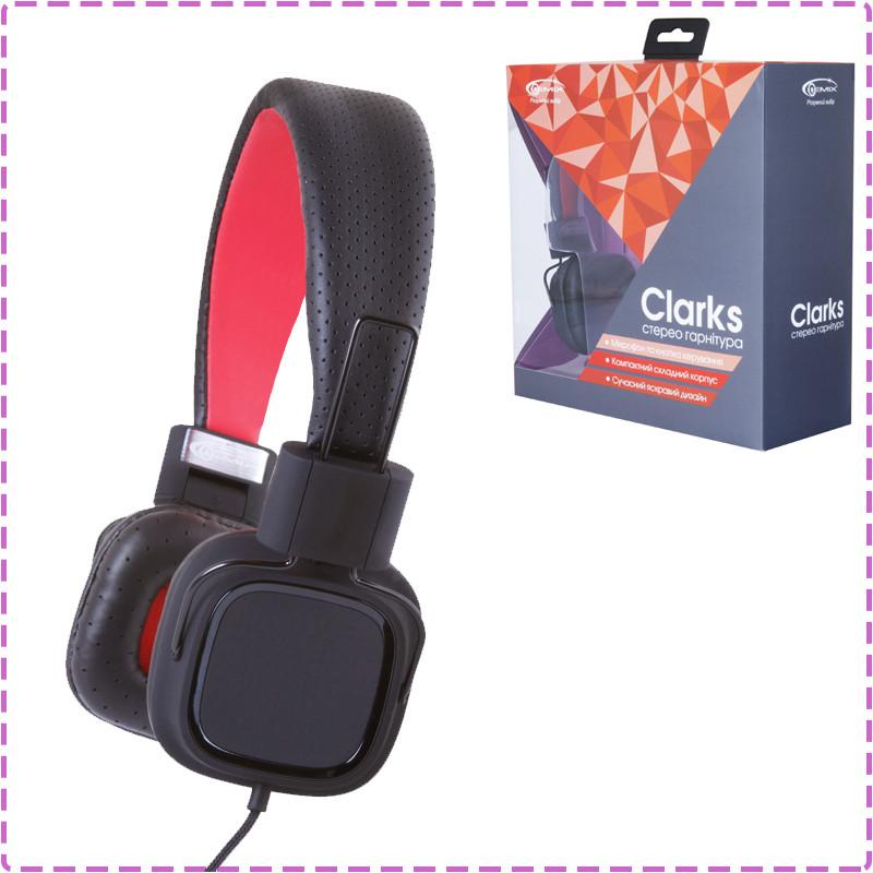 Наушники с микрофоном Gemix Clarks Black/Red, гарнитура