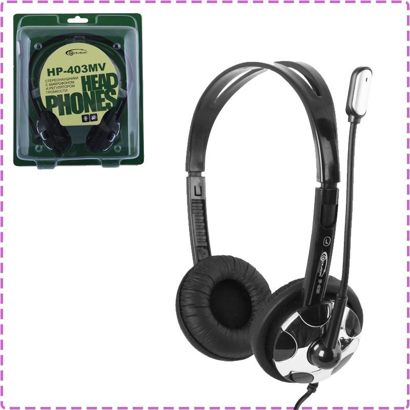 Наушники с микрофоном Gemix HP-403MV Black/Silver, гарнитура