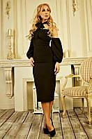 Классическое черное женское платье