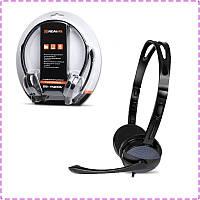 Наушники с микрофоном REAL-EL GD-150MV Black, гарнитура