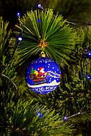 """Новогоднее украшение - шарик ручной работы """"Дед Мороз"""""""