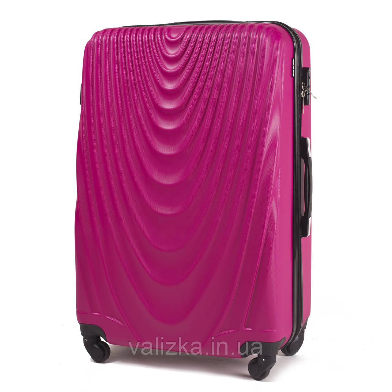 Чемодан из поликарбоната большой Wings 304 на 4-х колесах с расширителем розовый