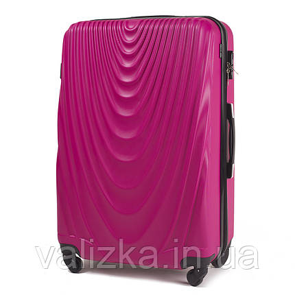 Чемодан из поликарбоната большой Wings 304 на 4-х колесах с расширителем розовый, фото 2