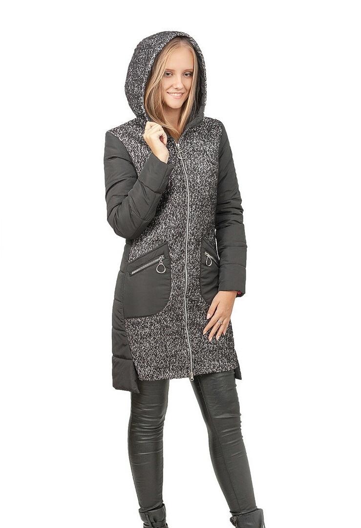 38dc17b9c05 Женская демисезонная куртка с капюшоном. Удлиненная куртка осень-весна -  TiKA-Shop в