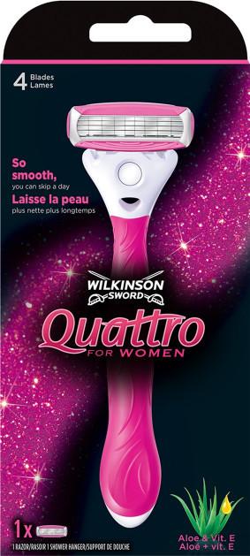 Станок женский Wilkinson Sword Quattro Women + 1 сменный картридж