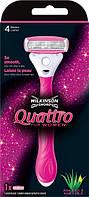 Станок женский Wilkinson Sword Quattro Women + 1 сменный картридж, фото 1