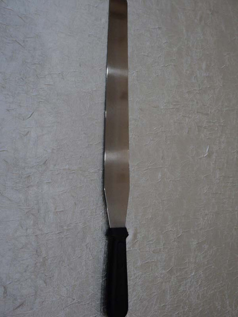 Шпатель кондитерский 35см (цвет ручки в ассортименте)