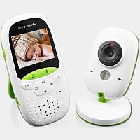Видеоняня Video baby Monitor с функцией ночного видения и датчиком температуры Бело-зеленый