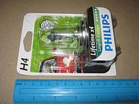 Лампа накаливания H4 12V 60/55W  P43t-38 LongerLife Ecovision 1шт blister (пр-во Philips)
