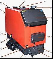 Котел на все виды твердого топлива «Модератор — Уника»,  7 кВт, (Польша), отопление до 80м*, фото 1