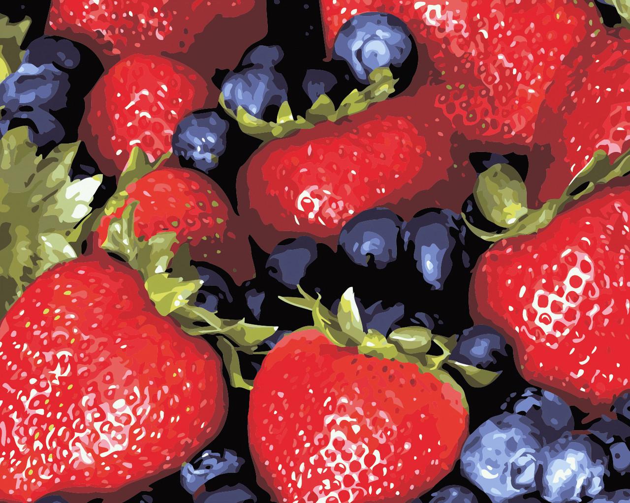 Художественный творческий набор, картина по номерам Сочные ягоды, 50x40 см, «Art Story» (AS0466)