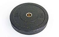 Блины (диски) проф. Бампер структурные с метал. втулкой отв. d-51мм RAGGY  15кг (резина)