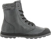 Женские ботинки Palladium Pampa Hi Knit LP Boot Black Forged Iron Leather 737425527e3fe