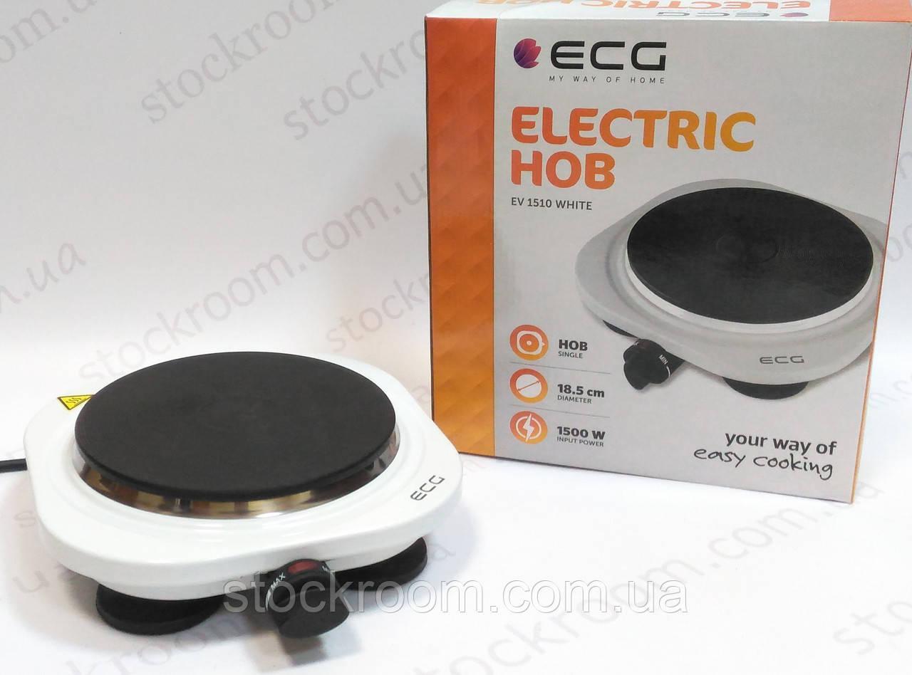 Электроплитка одноконфорочная ECG EV 1510 white настольная