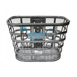 """Кошик велосипедна """"Міні"""" JL-CK104/ багажна/ під 28"""" діаметр колеса / Срібляста"""