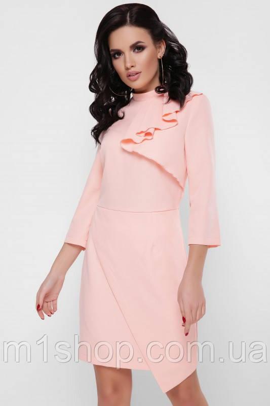 Приталенное женское платье с рюшей спереди (Sherryfup)