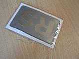 Наклейка s надпись RS 80х50х1мм силиконовая полоска на авто надпись логотип РС медальон, фото 3