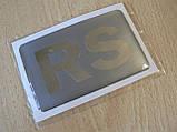 Наклейка s надпись RS 80х50х1мм силиконовая полоска на авто надпись логотип РС медальон, фото 4