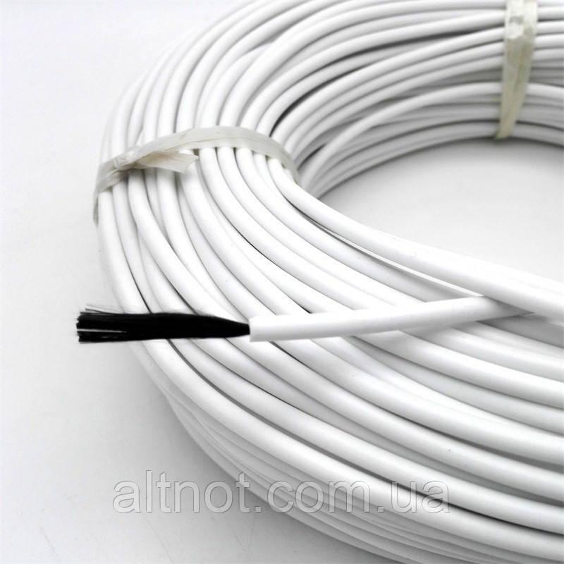 Карбоновый нагреватель (кабель) для инкубатора К-33С, R-33 Ом/м.пог., диаметр -3,0мм., в силиконовой изоляции.