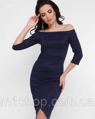 Женское облегающее платье с открытыми плечами (Lillianfup)