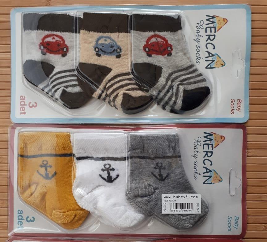 Носочки для новорожденного  3 шт. на планшетки.
