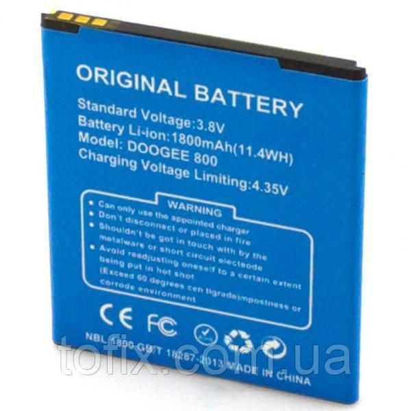 Батарея (АКБ, аккумулятор) для Doogee 800, 1800 mAh, оригинал