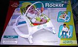Шезлонг качалка для малышей Bambi Rocker 7888 аналог Fisher Price, фото 7