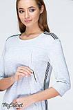 Трикотажное платье для беременных и кормящих DANIELLE LIGHT DR-19.042, серый меланж, фото 3