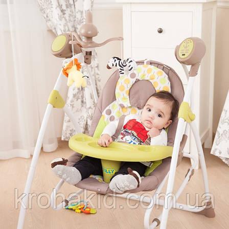 Колыбель-качель Carrello Nanny для новорожденных (CRL-0005 Green Tree), фото 2