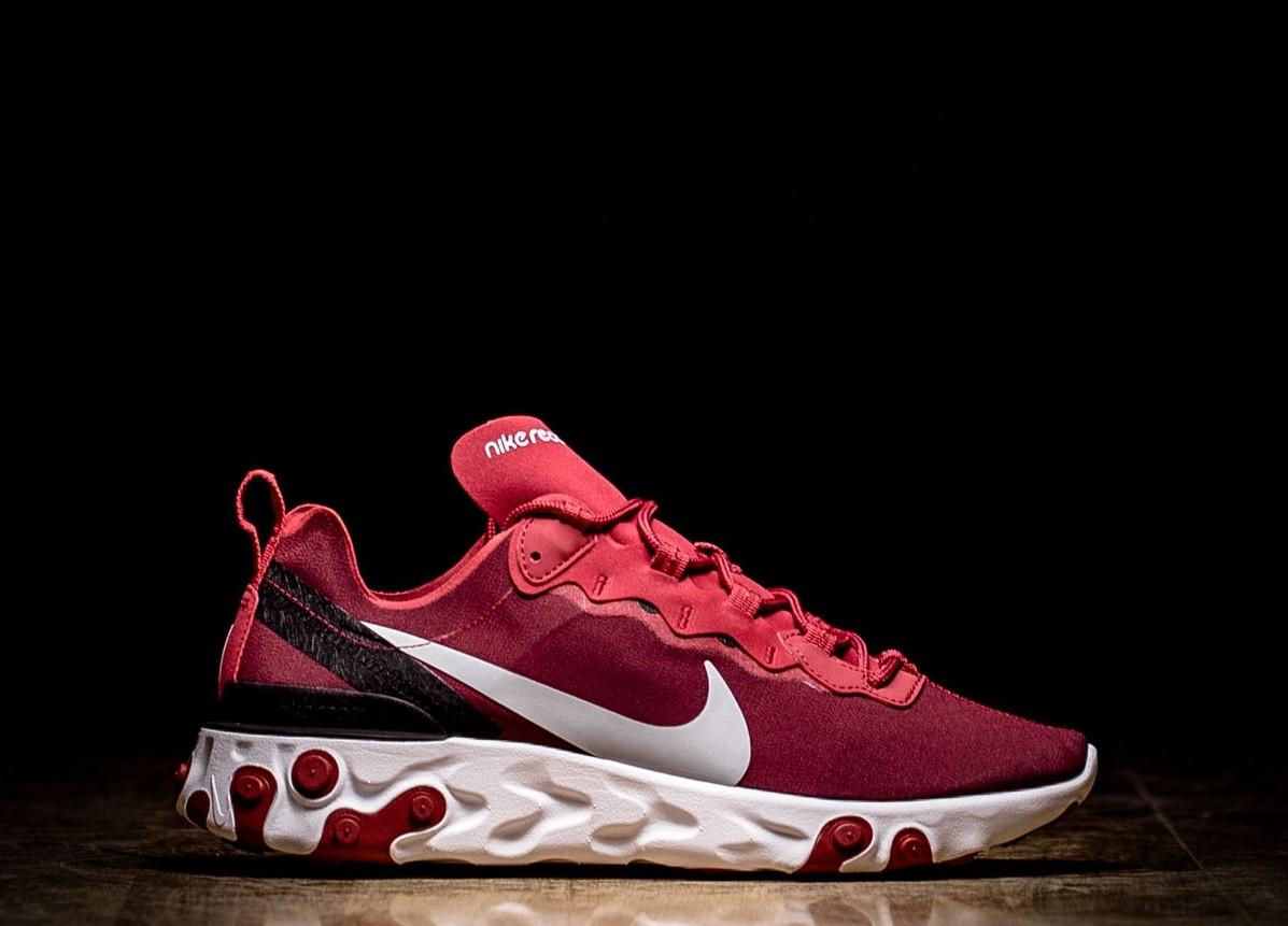 de1f4cc2 Оригинальные мужские кроссовки NIKE REACT ELEMENT 55 TEAM RED, фото 1